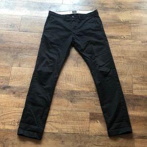 J Crew Black Slim Fit Broken In Chino Pant 31x32